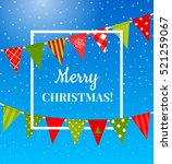 christmas background with... | Shutterstock .eps vector #521259067