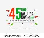 uae national day celebration... | Shutterstock .eps vector #521260597