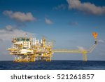 offshore oil and gas processing ... | Shutterstock . vector #521261857