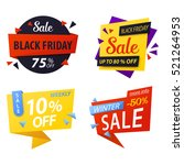 black friday price discount... | Shutterstock .eps vector #521264953