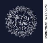 vector illustration christmas... | Shutterstock .eps vector #521270893