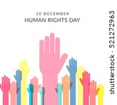 human rights day poster or... | Shutterstock .eps vector #521272963