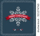 merry christmas typographic... | Shutterstock .eps vector #521274763