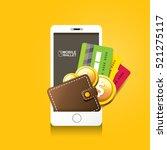 vector digital mobile wallet... | Shutterstock .eps vector #521275117