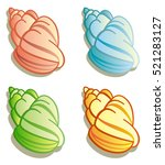 different colored shells on a... | Shutterstock . vector #521283127