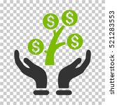 money tree care hands icon.... | Shutterstock .eps vector #521283553