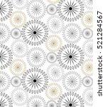 abstract linear petal flower.... | Shutterstock .eps vector #521284567