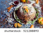 Plum Pudding With Mandarins An...
