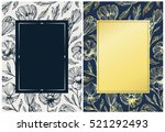 floral botanical backgrounds... | Shutterstock .eps vector #521292493