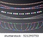 christmas light string... | Shutterstock .eps vector #521293753