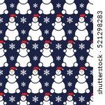 vector. christmas seamless... | Shutterstock .eps vector #521298283