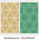 set of floral ornament for your ... | Shutterstock .eps vector #521299147