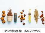 Stock photo selection food sources of omega super food high omega and unsaturated fats for healthy food 521299903