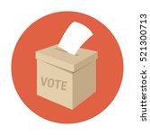 ballot box or vote box. flat... | Shutterstock .eps vector #521300713