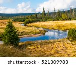 small mountain creek meandering ... | Shutterstock . vector #521309983