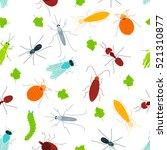 seamless pattern of pest... | Shutterstock .eps vector #521310877