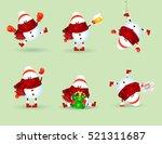 hand drawn set of cute cartoon...   Shutterstock .eps vector #521311687
