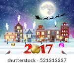 happy new year and merry... | Shutterstock .eps vector #521313337