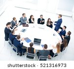 speaker giving a talk on... | Shutterstock . vector #521316973