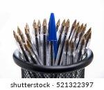 Blue Ballpoint Pens In Black...