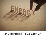 energy wood word on compressed... | Shutterstock . vector #521325427