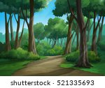 illustration of an outdoor in... | Shutterstock . vector #521335693