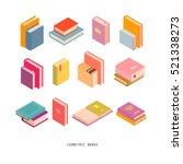 isometric books.vector... | Shutterstock .eps vector #521338273