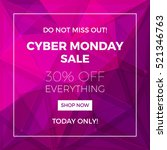 cyber monday concept design for ... | Shutterstock . vector #521346763