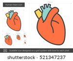 human heart vector line icon... | Shutterstock .eps vector #521347237