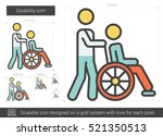 disability vector line icon... | Shutterstock .eps vector #521350513