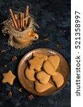 ginger cookies | Shutterstock . vector #521358997