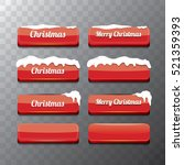christmas vector red glossy... | Shutterstock .eps vector #521359393