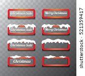christmas vector red glossy... | Shutterstock .eps vector #521359417