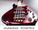 rosewood bass electric guitar... | Shutterstock . vector #521367013