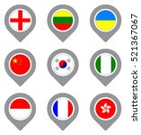 set of flag map point isolated... | Shutterstock .eps vector #521367067