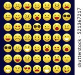 set of emoticons  icon pack ... | Shutterstock .eps vector #521367217