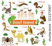 desert animals cartoon on white ...   Shutterstock .eps vector #521373007