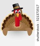 happy thanksgiving celebration... | Shutterstock .eps vector #521373517