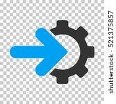 gear integration icon. vector... | Shutterstock .eps vector #521375857