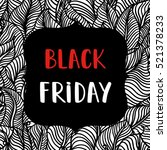 black friday sale poster on... | Shutterstock .eps vector #521378233