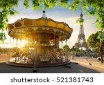 Carousel In Park Near The...