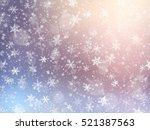 falling snow texture. winter... | Shutterstock .eps vector #521387563