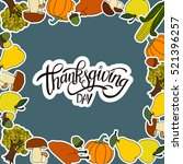 happy thanksgiving day... | Shutterstock .eps vector #521396257