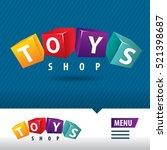 toys shop logo cube   Shutterstock .eps vector #521398687