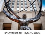 the statue of atlas holding the ... | Shutterstock . vector #521401003