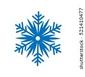 snowflake winter isolated on... | Shutterstock .eps vector #521410477