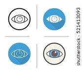 human eye icon. flat design ... | Shutterstock .eps vector #521413093