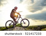 professional down hill cyclist... | Shutterstock . vector #521417233