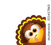 card for thanksgiving day.... | Shutterstock .eps vector #521417863
