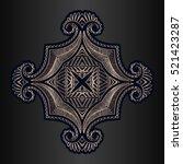 decor elements symmetrically... | Shutterstock .eps vector #521423287